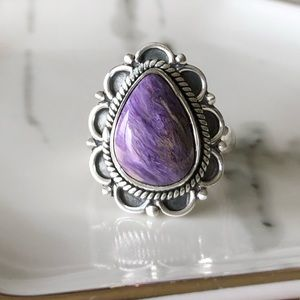 Jewelry - 🆕 Ring Charoite Teardrop and Sterling Silver